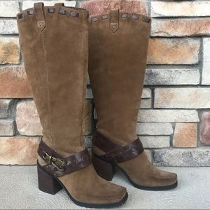 Jessica Simpson Tan Brown Suede Boots 🥾 8
